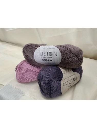 Sulko Shawl Kit Purple delight