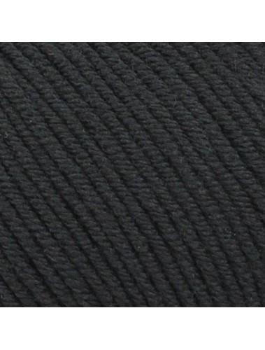 Bellissimo 8 Extra Fine merino 200 8 ply Black