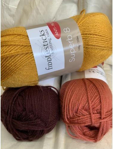 Simple Stripes Blanket Kit Autumn