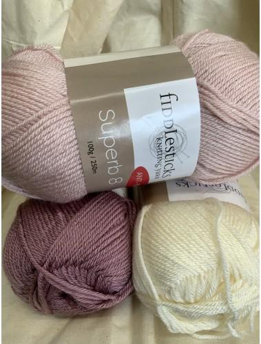 Simple Stripes Blanket Kit Girls Sample colour