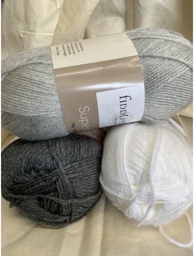 Simple Stripes Blanket Kit Grey blends