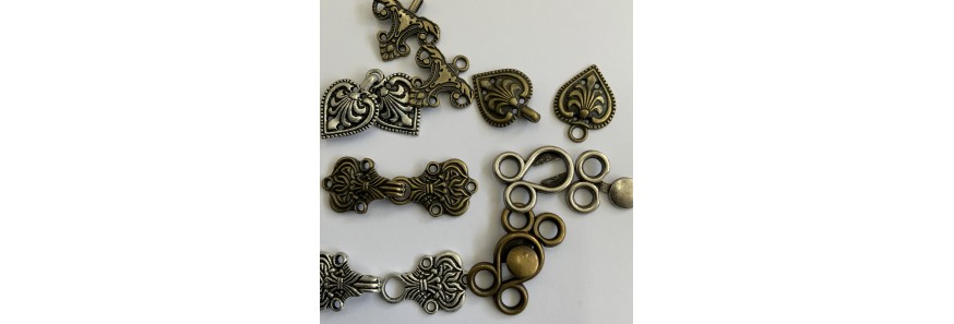 Clasps (hook and eye)