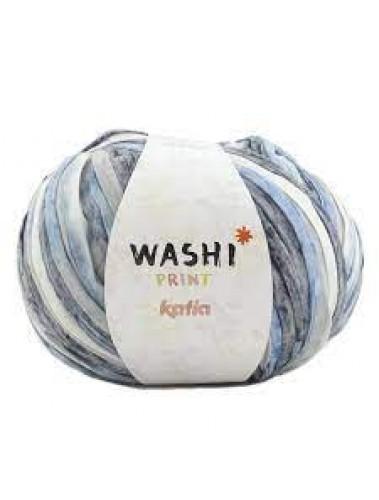 Katia Washi Print 308 Blue denim grey