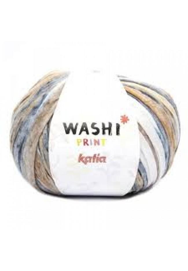 Katia Washi Print 311 stone wash