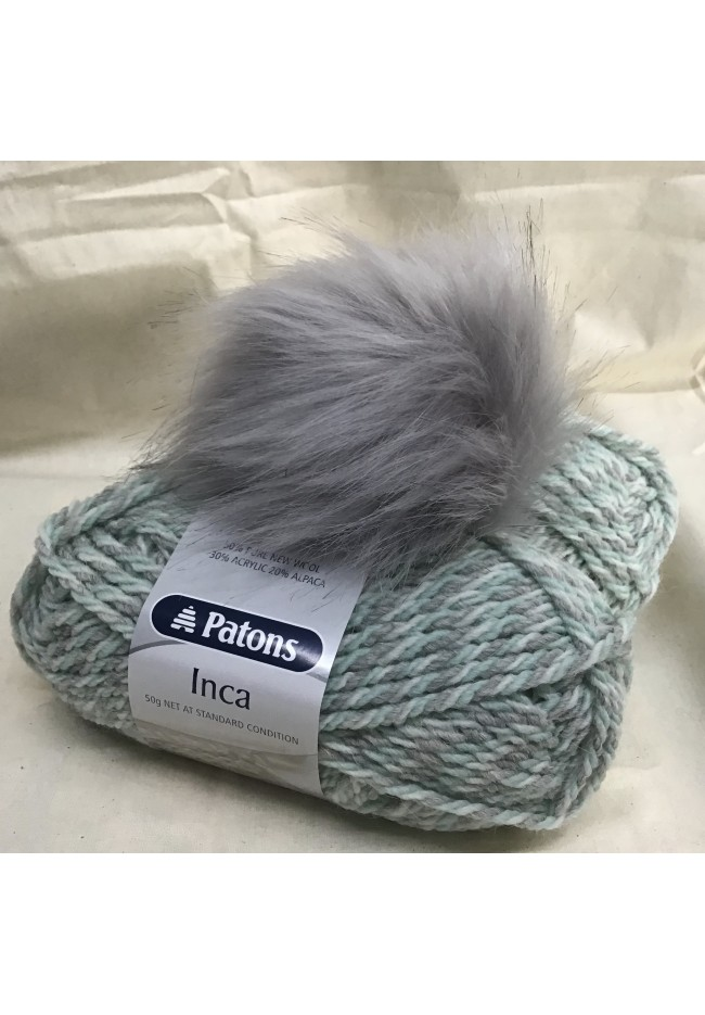 Pom Pom Hat kit Snow mint