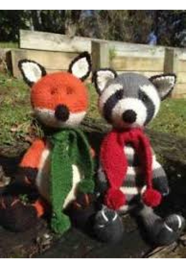 Fox and racoon pattern