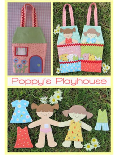 Poppies Play House Pattern