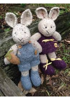 Peter and Pansy Rabbit knitting pattern