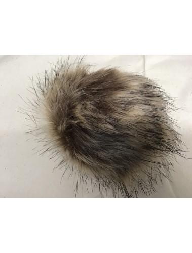 Fluffy Pom Pom 10cm Brown