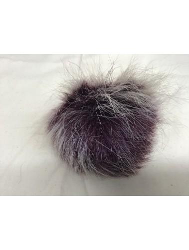 Fluffy Pom Pom 10cm Maroon