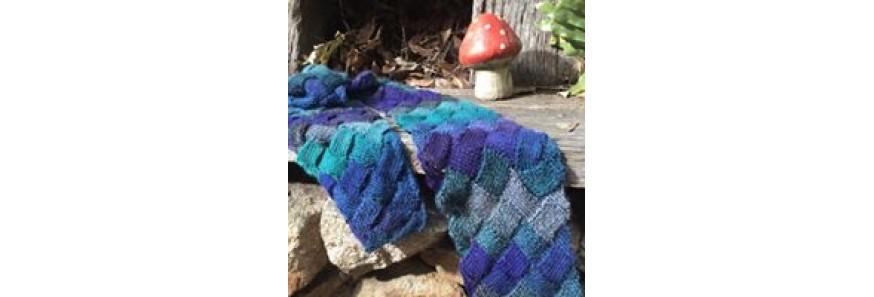 Entrelac scarf Kit