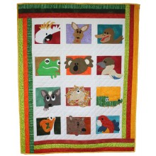 Aussie Animals Cot Quilt pattern