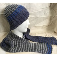 Winter Stripes Hat and scarf kit