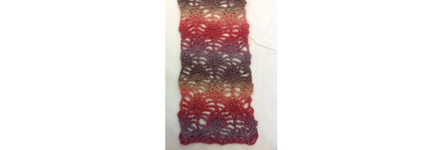 Raspberry Scarf (crochet) kit