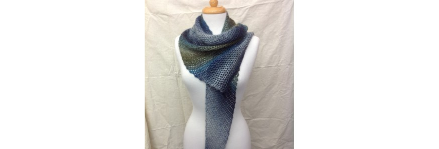 Triangle Crochet Scarf kit