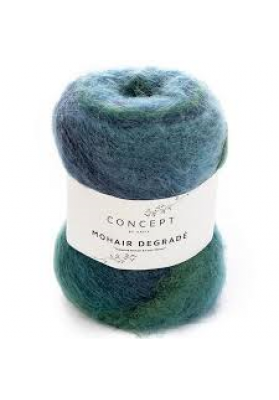 Mohair Degrade teals