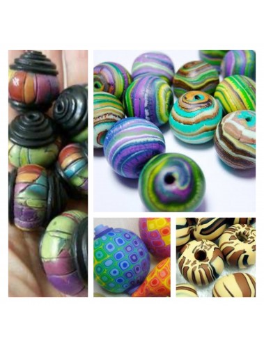 Polymer Clay Macrame beads 16th April